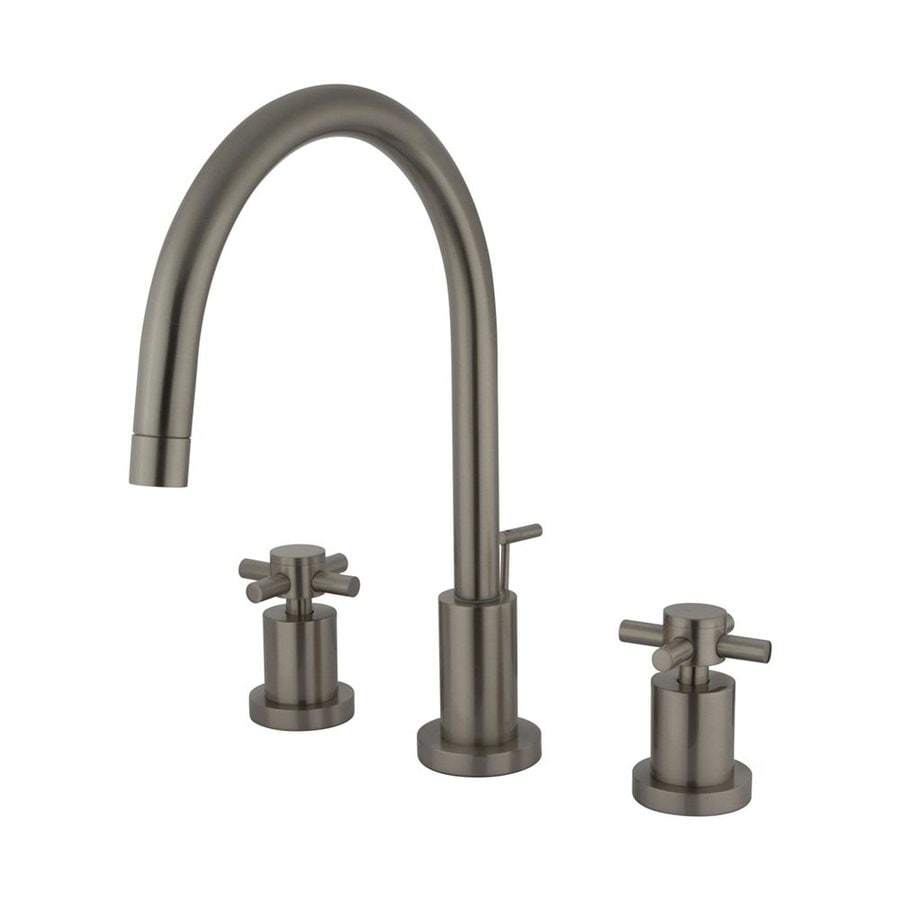 Elements of Design Concord Satin Nickel 2-Handle Widespread Bathroom Faucet (Drain Included)