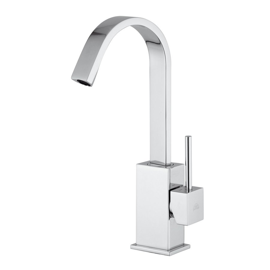 WS Bath Collections Polished Chrome 1-Handle Single Hole Bathroom Faucet