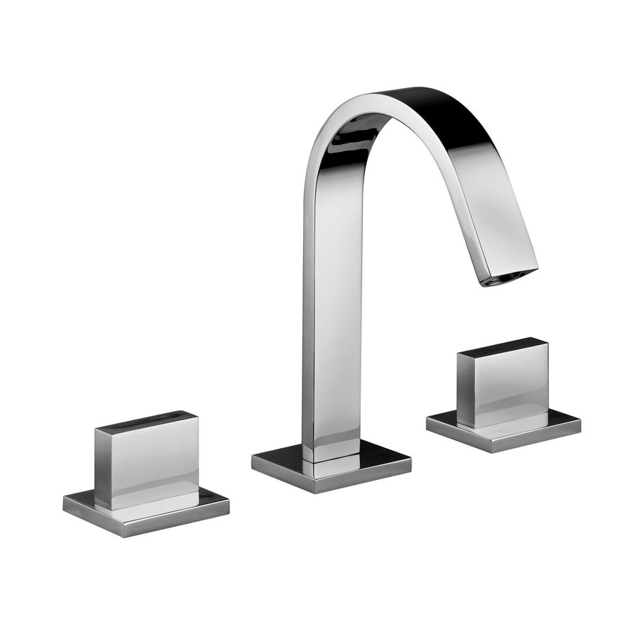 WS Bath Collections Linea Polished Chrome 2-Handle Widespread Bathroom Faucet