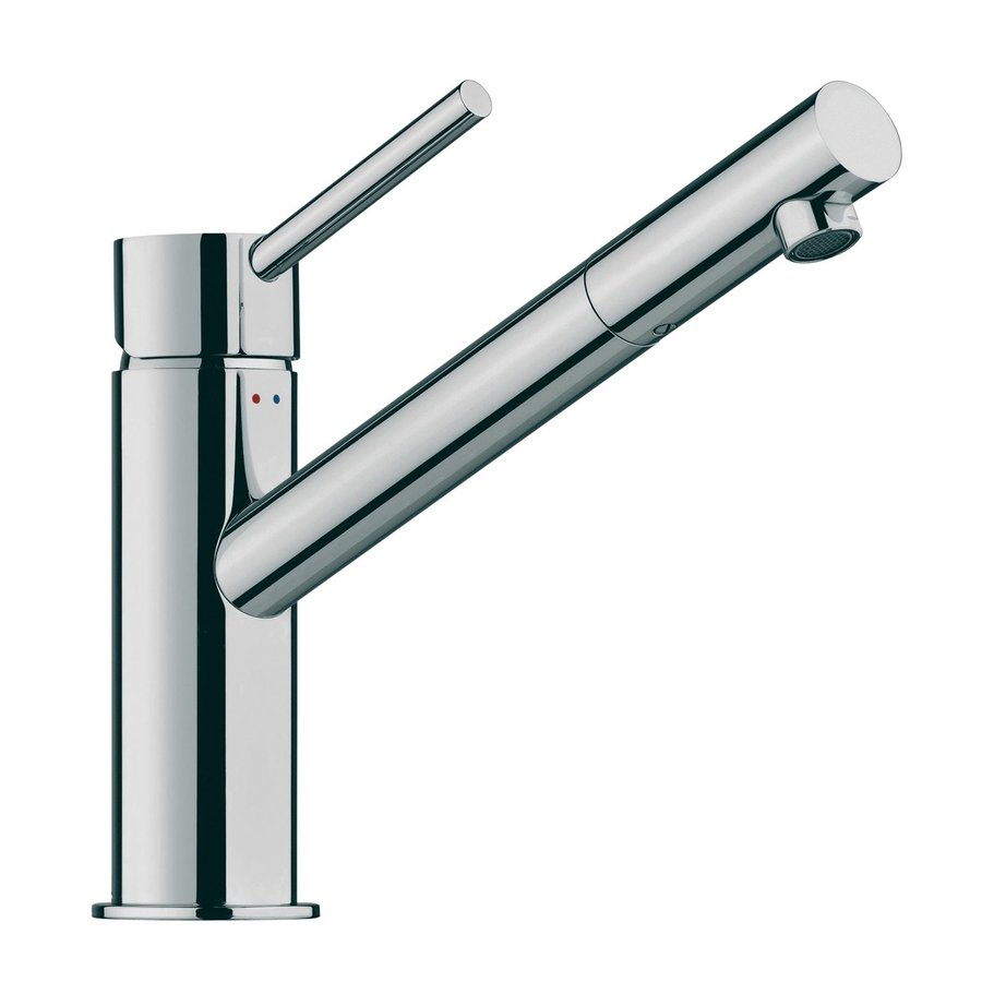 WS Bath Collections Linea Polished Chrome 1-Handle Single Hole Bathroom Faucet
