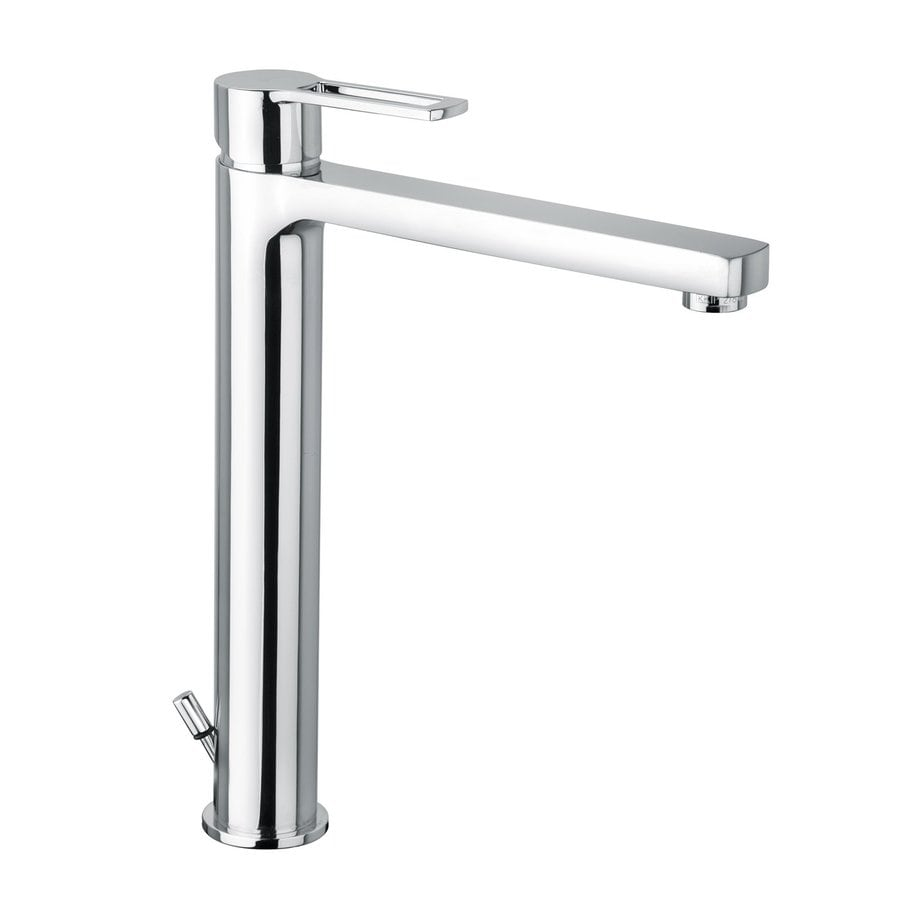 WS Bath Collections Fonte Polished Chrome 1-Handle Vessel Bathroom Faucet