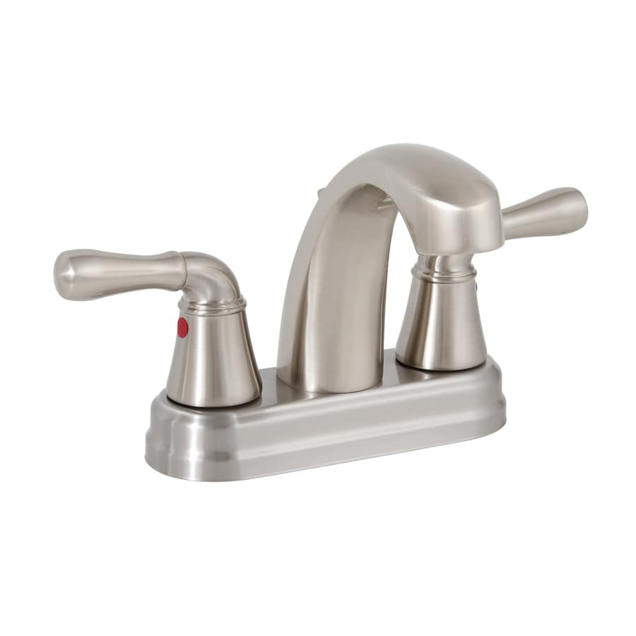 premier bathroom fixtures shop premier faucet sanibel brushed nickel 2 handle 4 in 14036