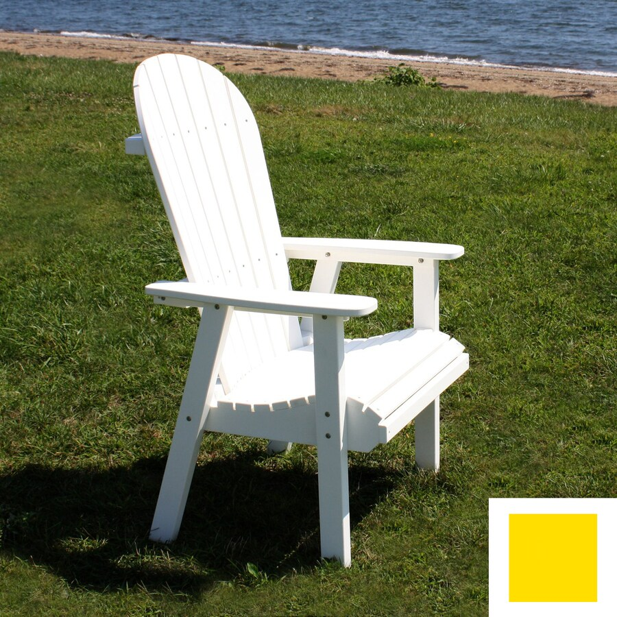 Malibu Outdoor Living Jamestown Yellow Adirondack Chair at ... on Lowes Outdoor Living id=92366