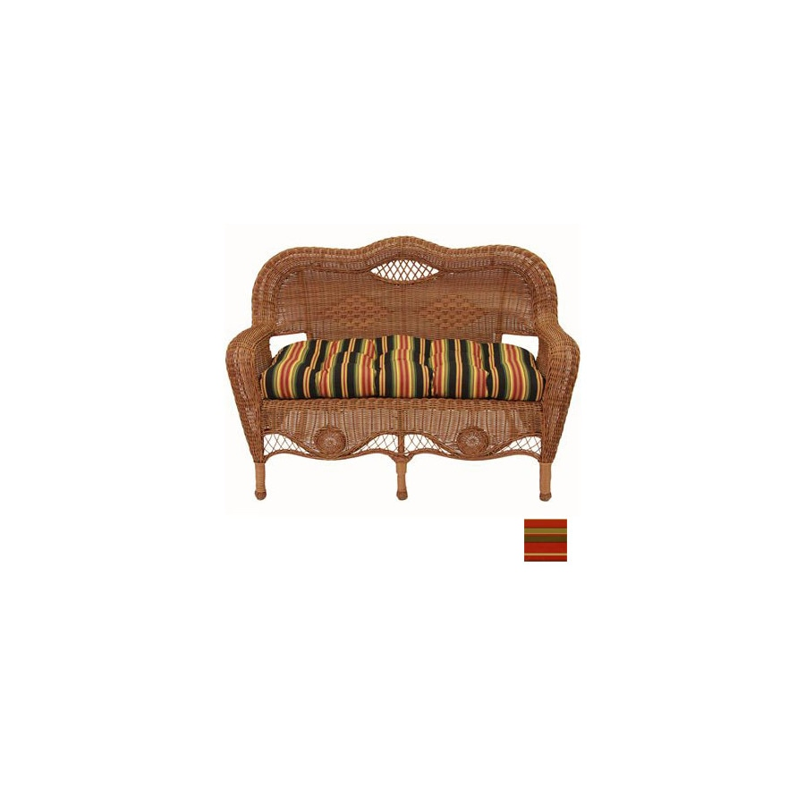 Blazing Needles 42-in L x 19-in W Monserrat Sangria Loveseat Cushion