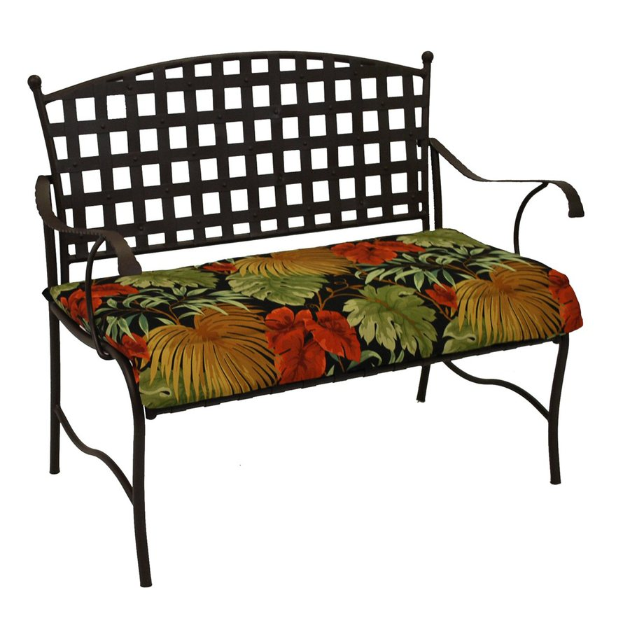 Blazing Needles Tropique Raven Tropical Patio Loveseat Cushion for Loveseat