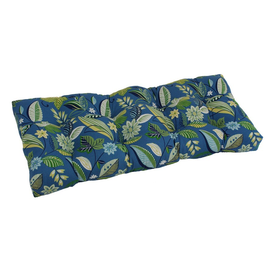 Blazing Needles Skyworks Caribbean Floral Cushion for Loveseats/Benches