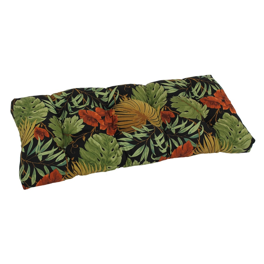 Blazing Needles 1 Piece Tropique Raven Patio Loveseat Cushion