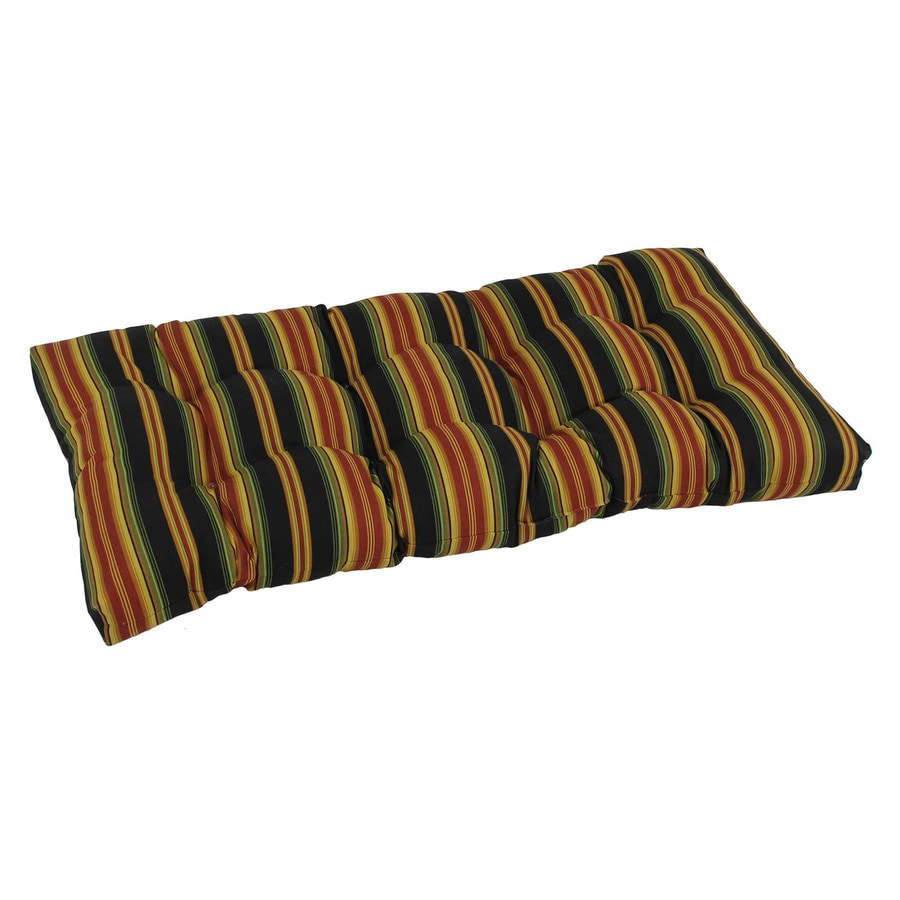 Shop blazing needles lyndhurst raven stripe patio loveseat cushion for loveseat bench at Patio loveseat cushion