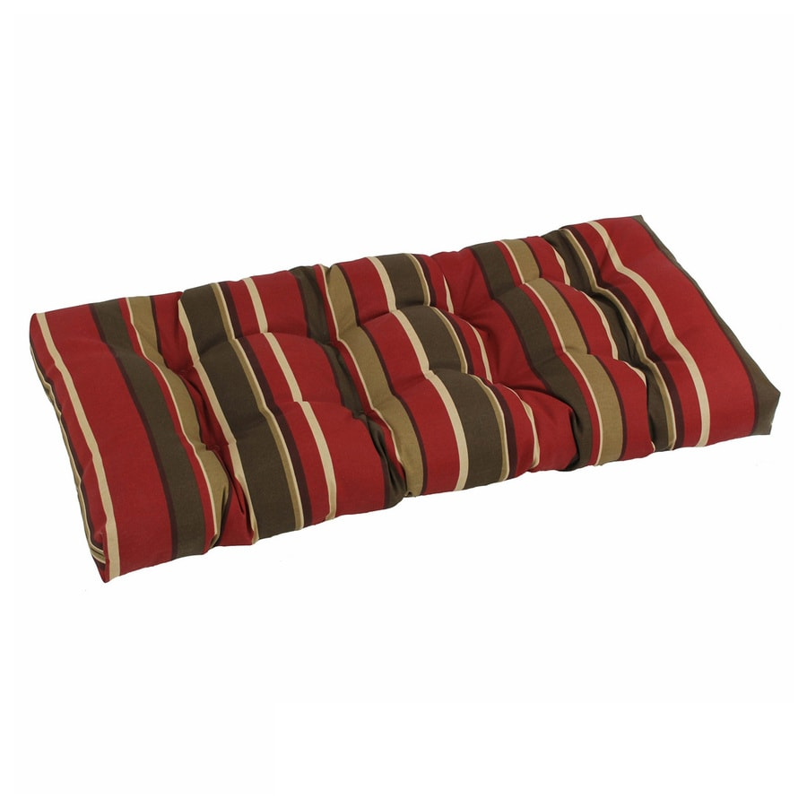 Blazing Needles Monserrat Sangria Stripe Patio Loveseat Cushion for Loveseat/Bench