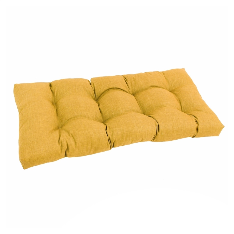 Shop Blazing Needles 1 Piece Lemon Patio Loveseat Cushion At