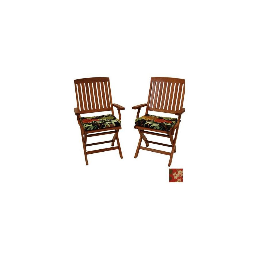 Blazing Needles Montfleuri Sangria Patio Chair Cushion