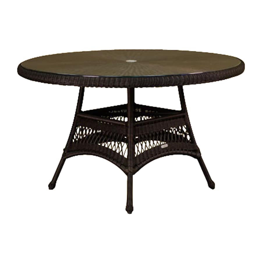 Tortuga Outdoor Lexington 48 In W X 48 In L Round Wicker Dining Table