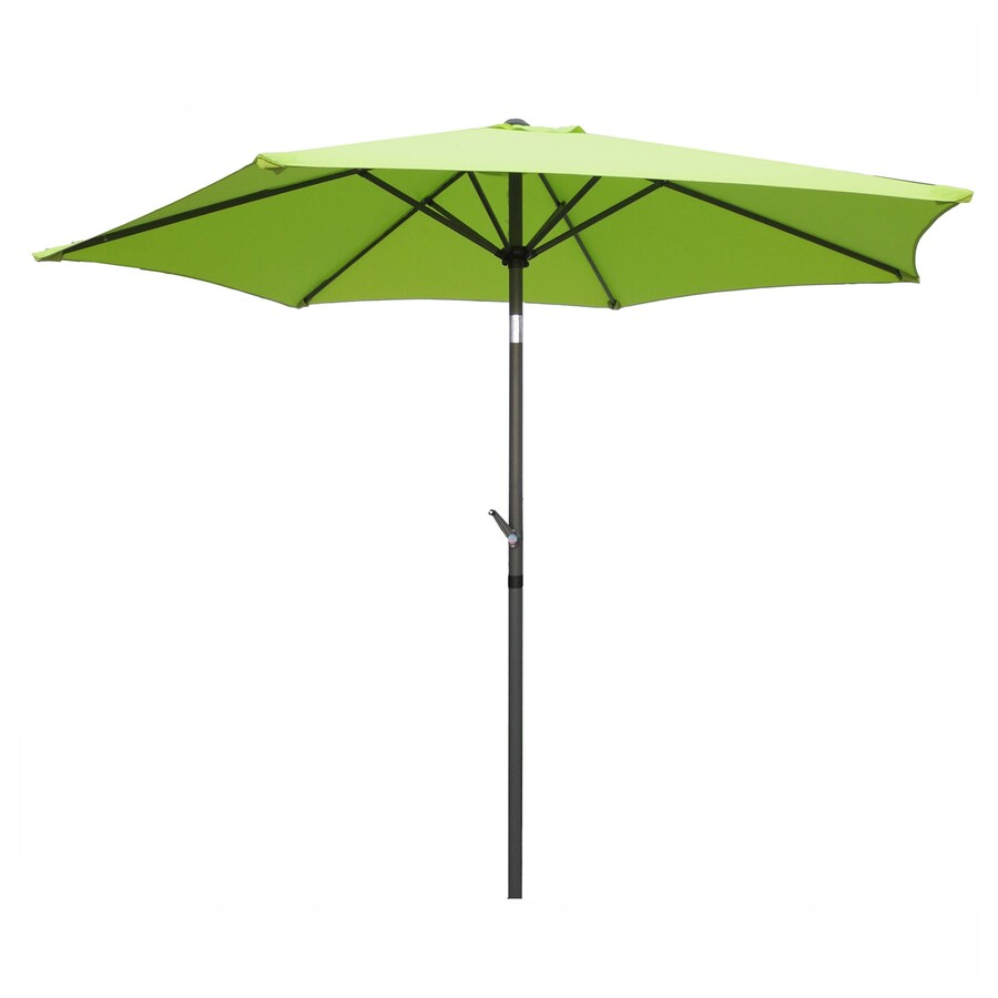 International Caravan Light Green Market Patio Umbrella (Common: 8.5-ft W x 8.5-ft L; Actual: 8.25-ft W x 8.25-ft L)