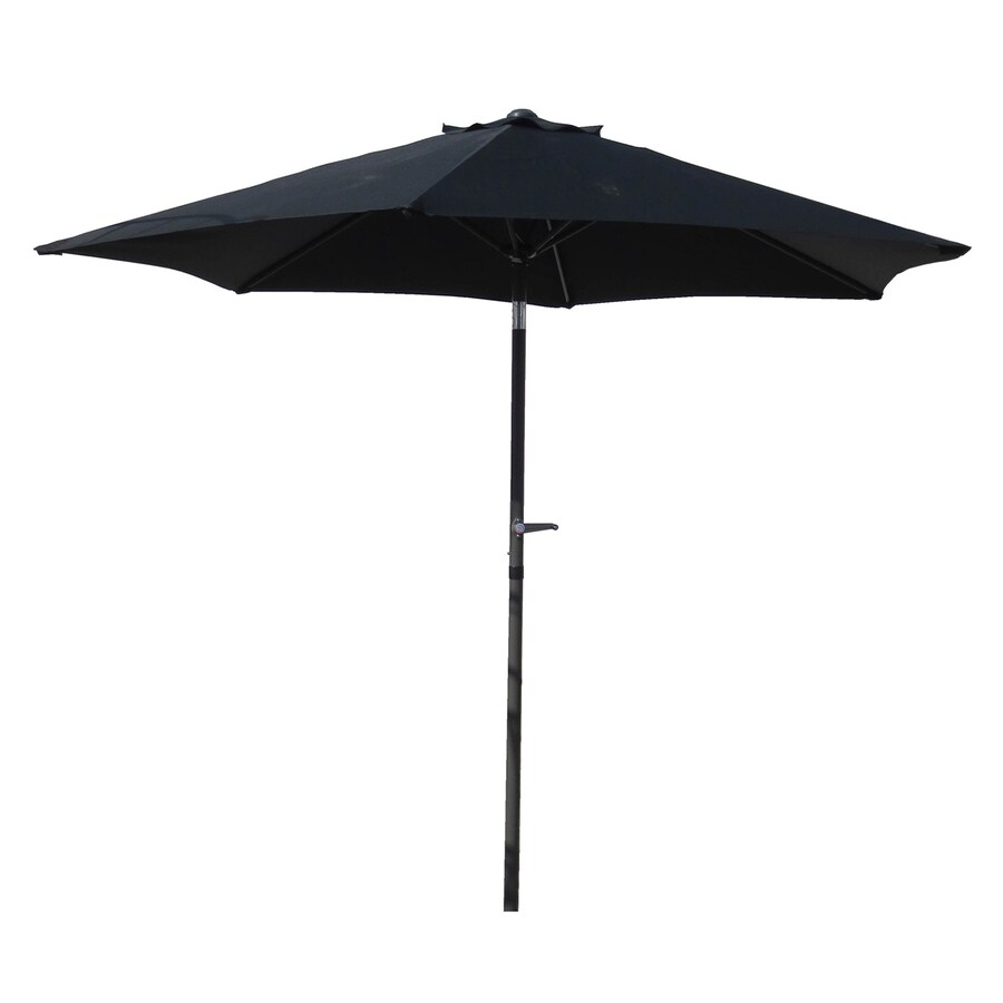 International Caravan St Kitts Black Market Patio Umbrella (Common: 8.5-ft W x 8.5-ft L; Actual: 8.25-ft W x 8.25-ft L)