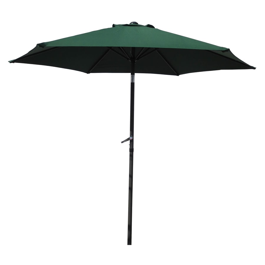 International Caravan St Kitts Forest Green Market Patio Umbrella (Common: 8.5-ft W x 8.5-ft L; Actual: 8.25-ft W x 8.25-ft L)