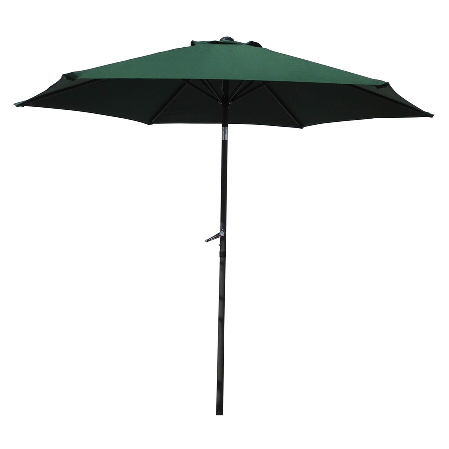 International Caravan Forest Green Market Patio Umbrella (Common: 8.5-ft W x 8.5-ft L; Actual: 8.25-ft W x 8.25-ft L)