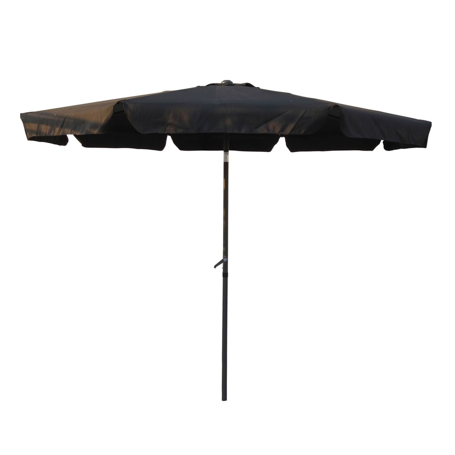 International Caravan Black Market Patio Umbrella (Common: 10-ft W x 10-ft L; Actual: 9.83-ft W x 9.83-ft L)
