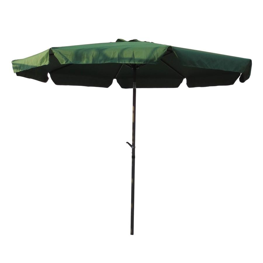 International Caravan Forest Green Market Patio Umbrella (Common: 10-ft W x 10-ft L; Actual: 9.83-ft W x 9.83-ft L)