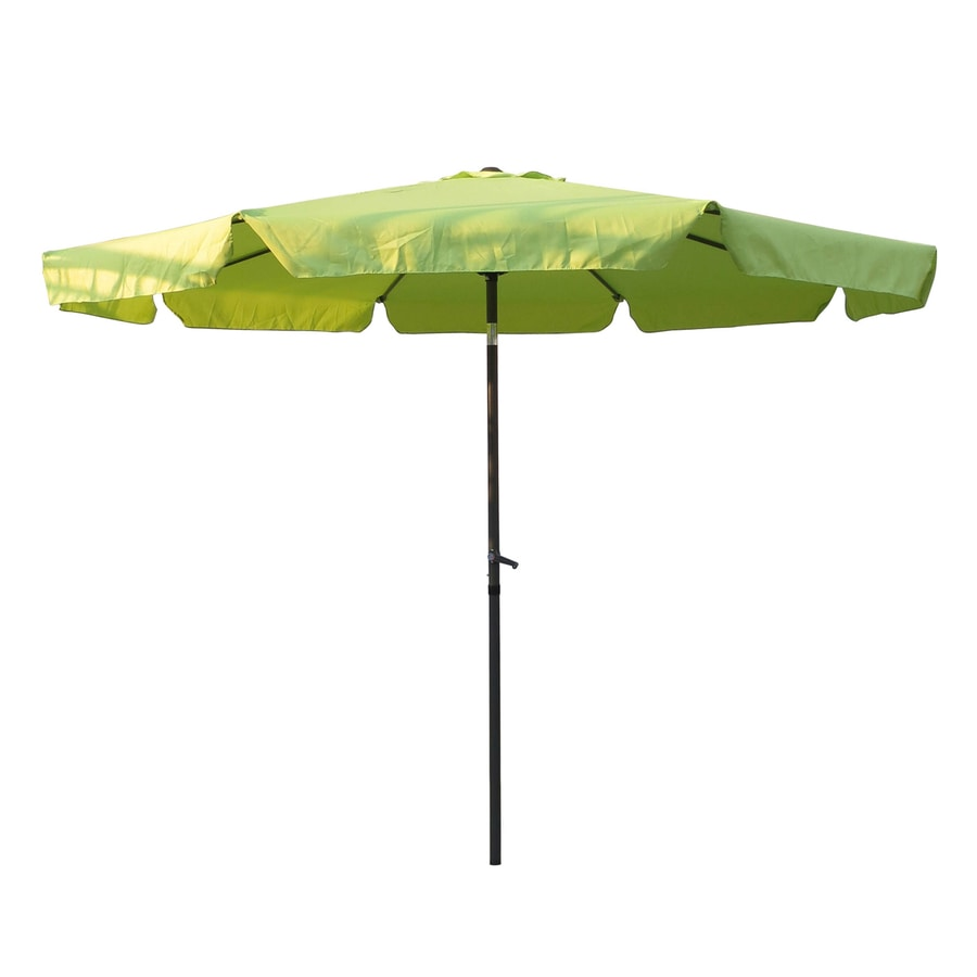 International Caravan Light Green Market Patio Umbrella (Common: 10-ft W x 10-ft L; Actual: 9.83-ft W x 9.83-ft L)
