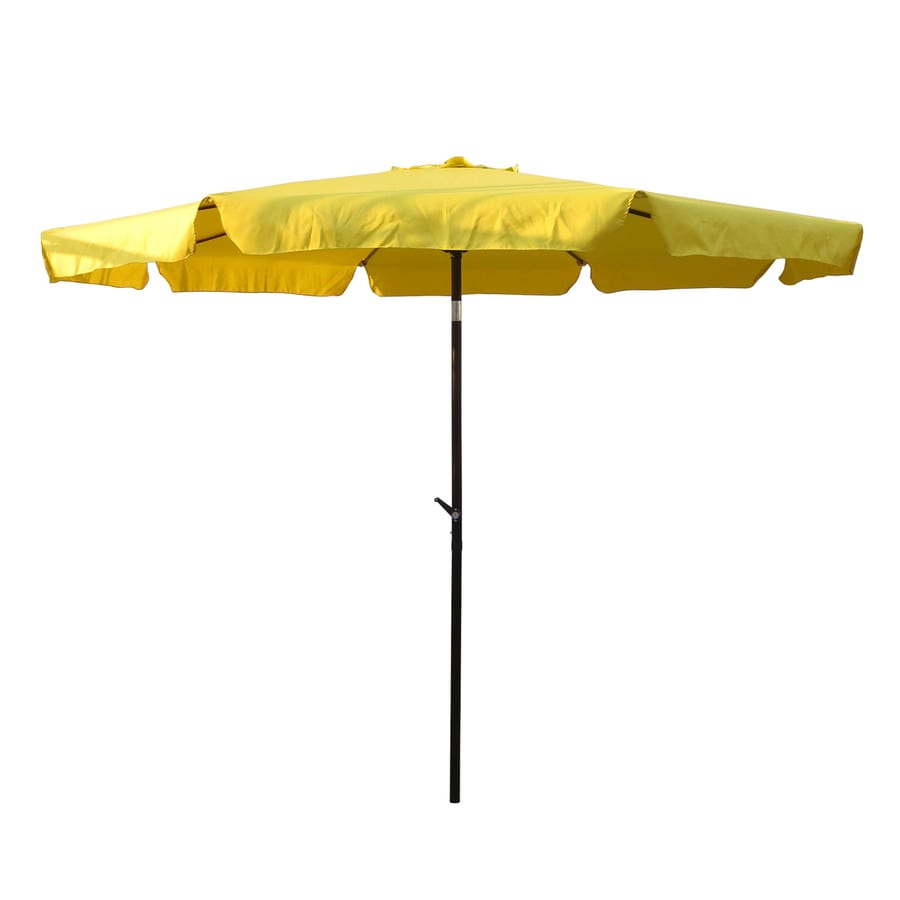 International Caravan Yellow Market Patio Umbrella (Common: 10-ft W x 10-ft L; Actual: 9.83-ft W x 9.83-ft L)