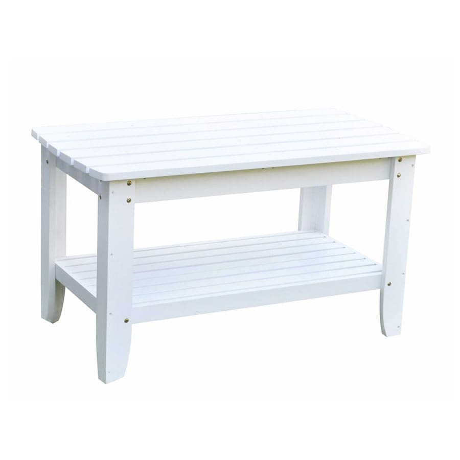 Shine Company 21-in W x 40-in L Rectangle Cedar Coffee Table