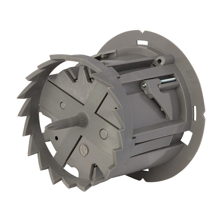 Madison Electric Products Shark Tooth 1-Gang Gray Polycarbonate Interior Old Work Round Celing/Wall Electrical Box