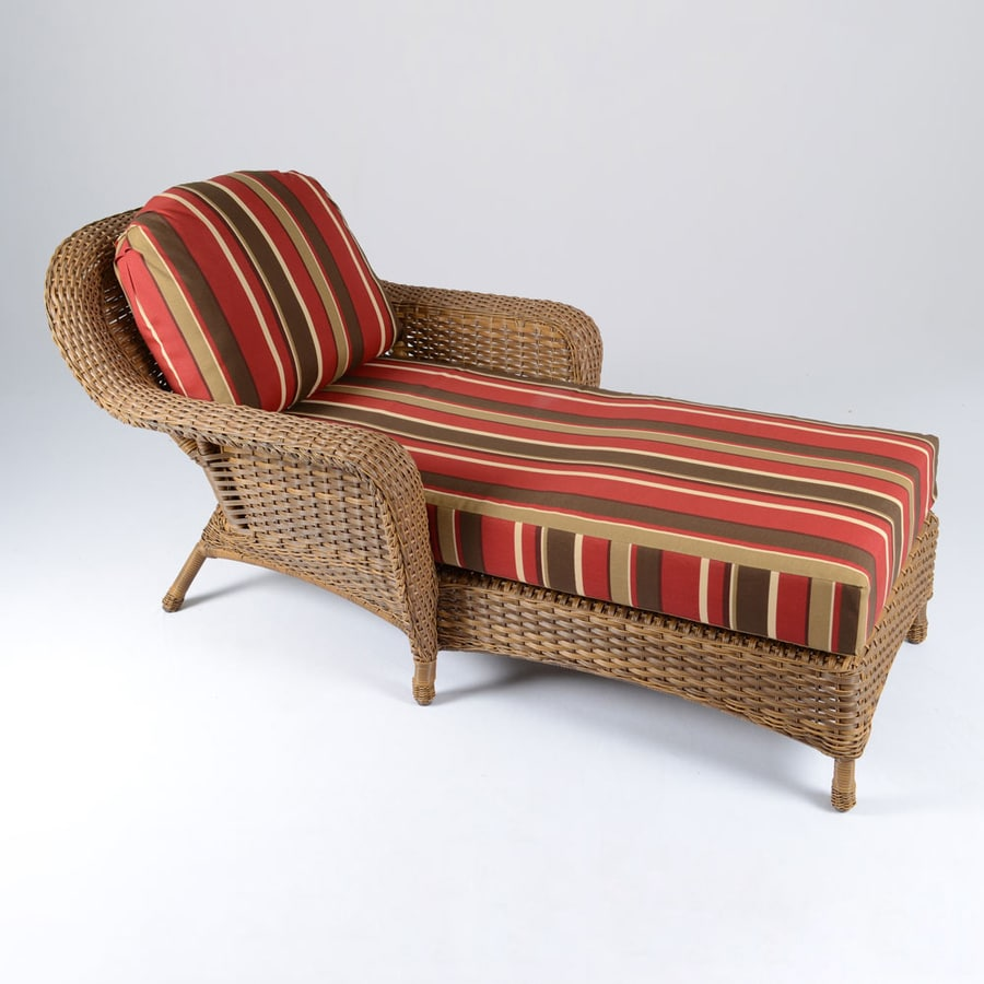 shop tortuga outdoor lexington mojave wicker patio chaise