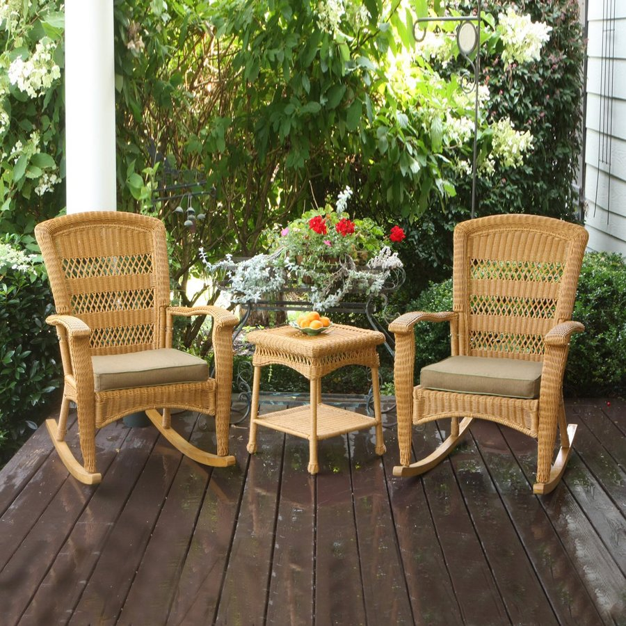 shop tortuga outdoor portside 3 piece wicker patio conversation set