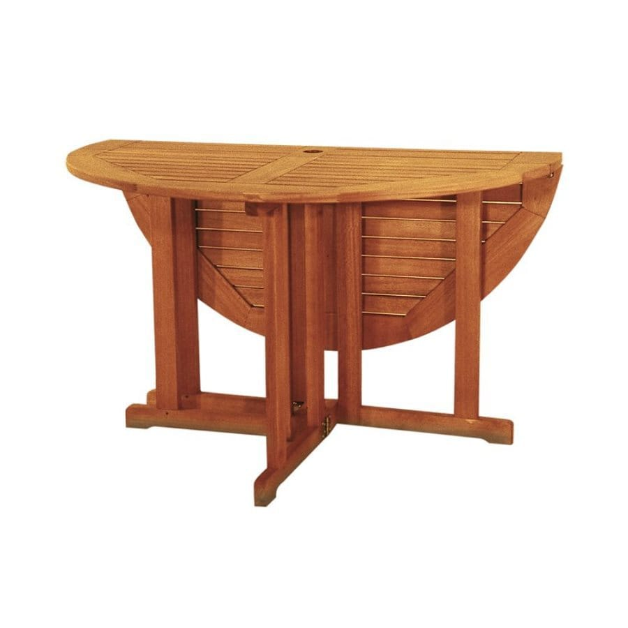 ACHLA Designs 48-in W x 48-in L Round Eucalyptus Folding Dining Table