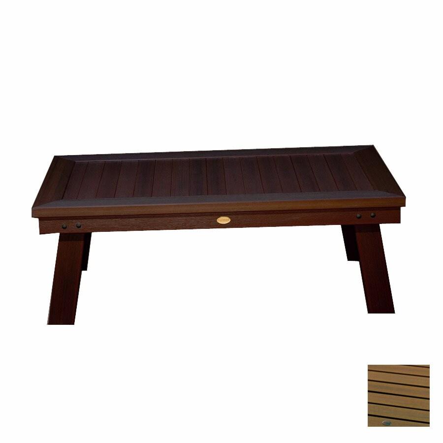Highwood Usa Pocono Plastic Rectangle Patio Coffee Table
