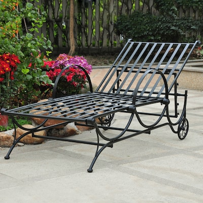 International Caravan Wrought Iron Chaise Lounge Chair ...