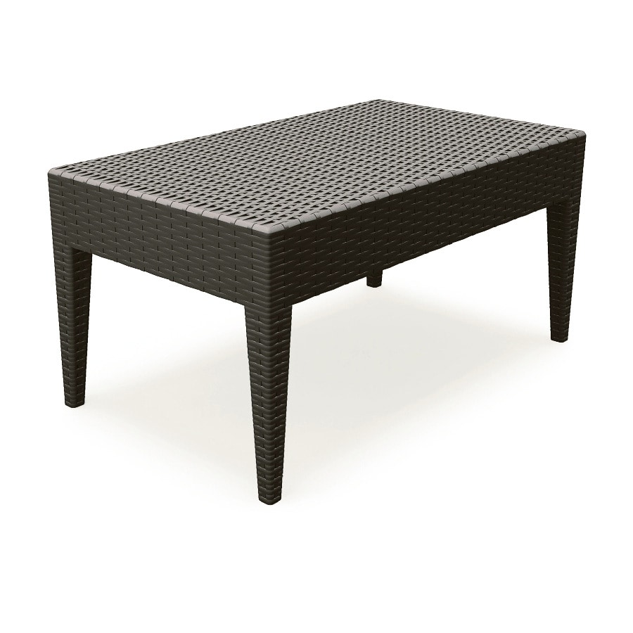 Compamia Miami Wickerlook 21-in W x 36-in L Rectangle Wicker Coffee Table