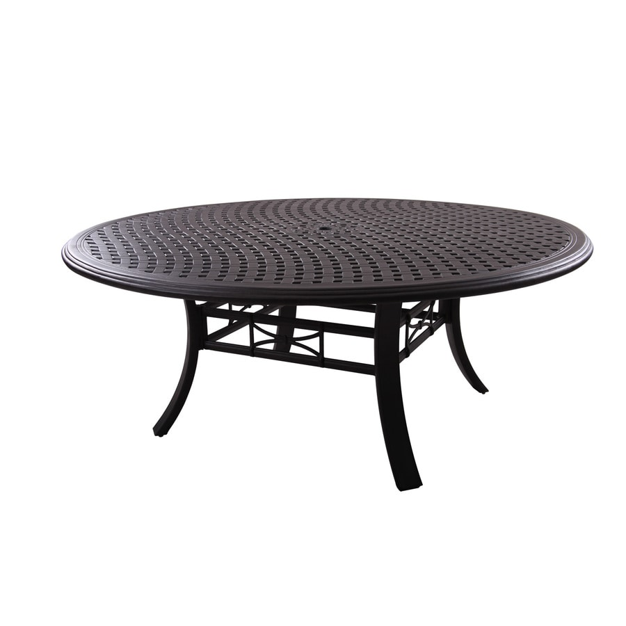 Darlee Series 99 71-in W x 71-in L Oval Aluminum Dining Table