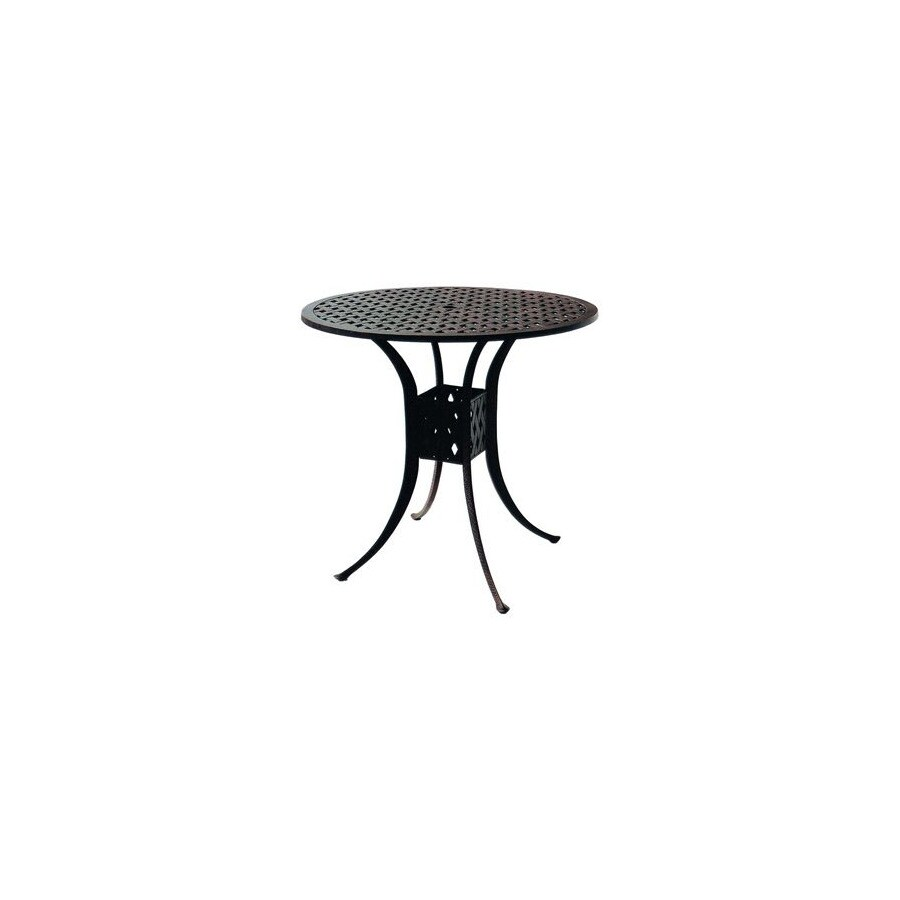Shop Darlee Series In X In Cast Aluminum Round Patio Dining - 30 x 42 dining table