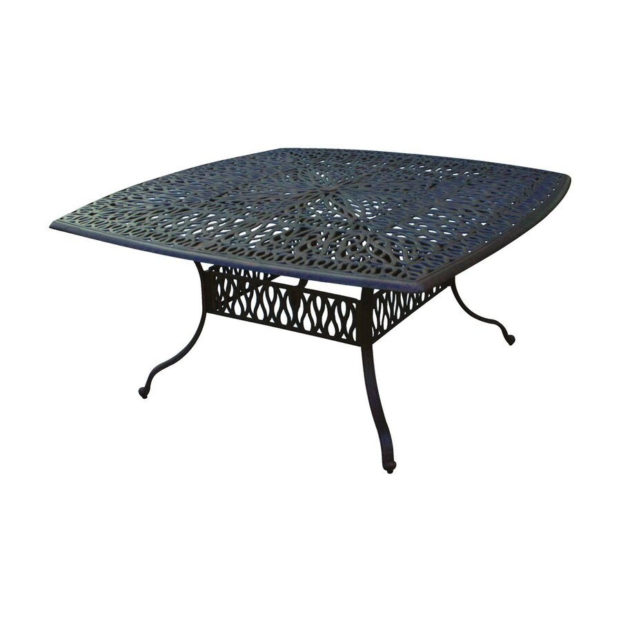 Darlee Elizabeth 64-in W x 64-in L Square Aluminum Dining Table