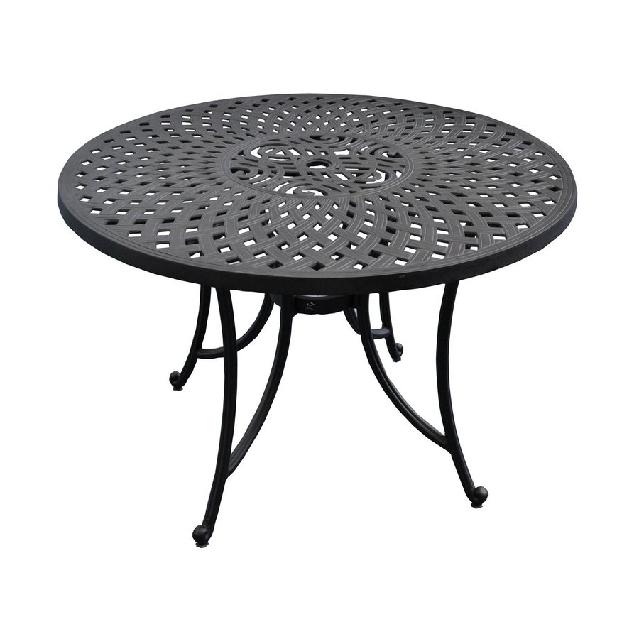Crosley Furniture Sedona 42-in W x 42-in L Round Aluminum Dining Table