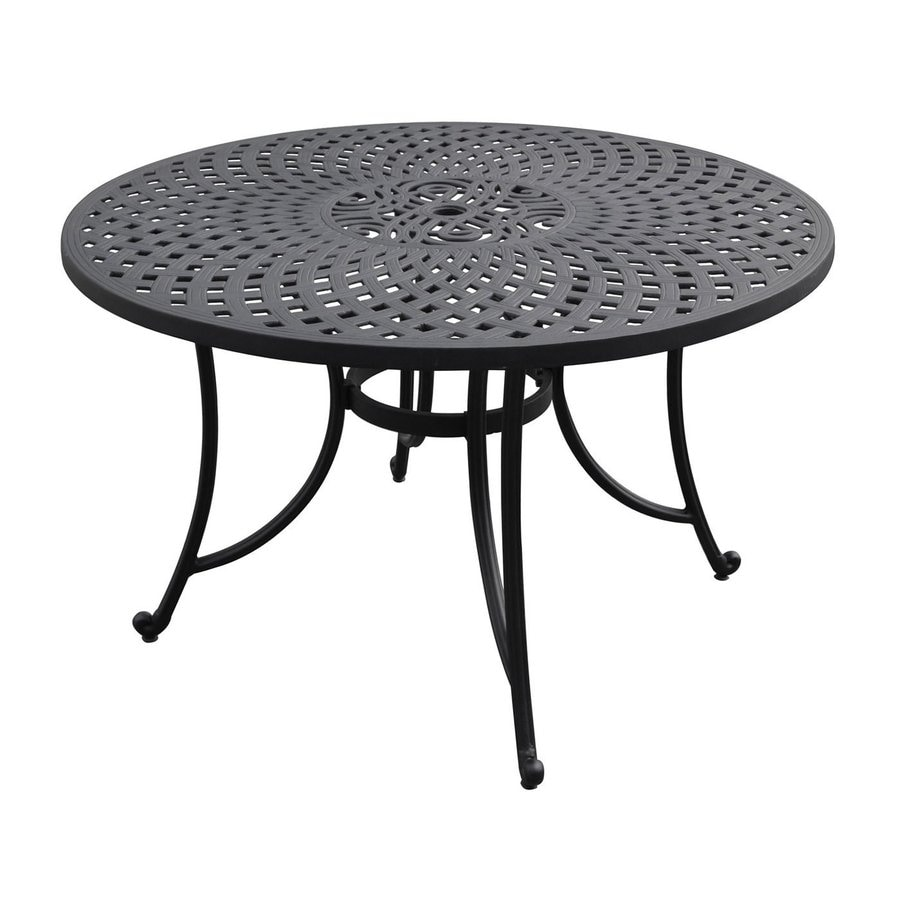 Shop Crosley Furniture Sedona 48-in W x 48-in L Round Aluminum Dining Table at Lowes.com