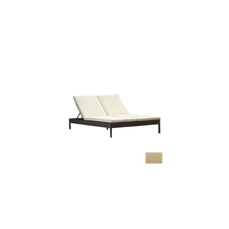 Shop source outdoor manhattan aluminum patio chaise lounge for Aluminum chaise lounge outdoor
