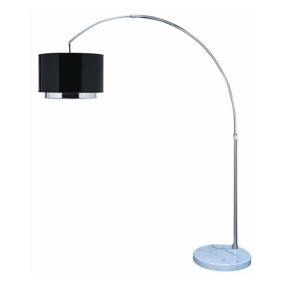 Trend Lighting 69-in Brushed Nickel Floor Lamp with Plastic Shade