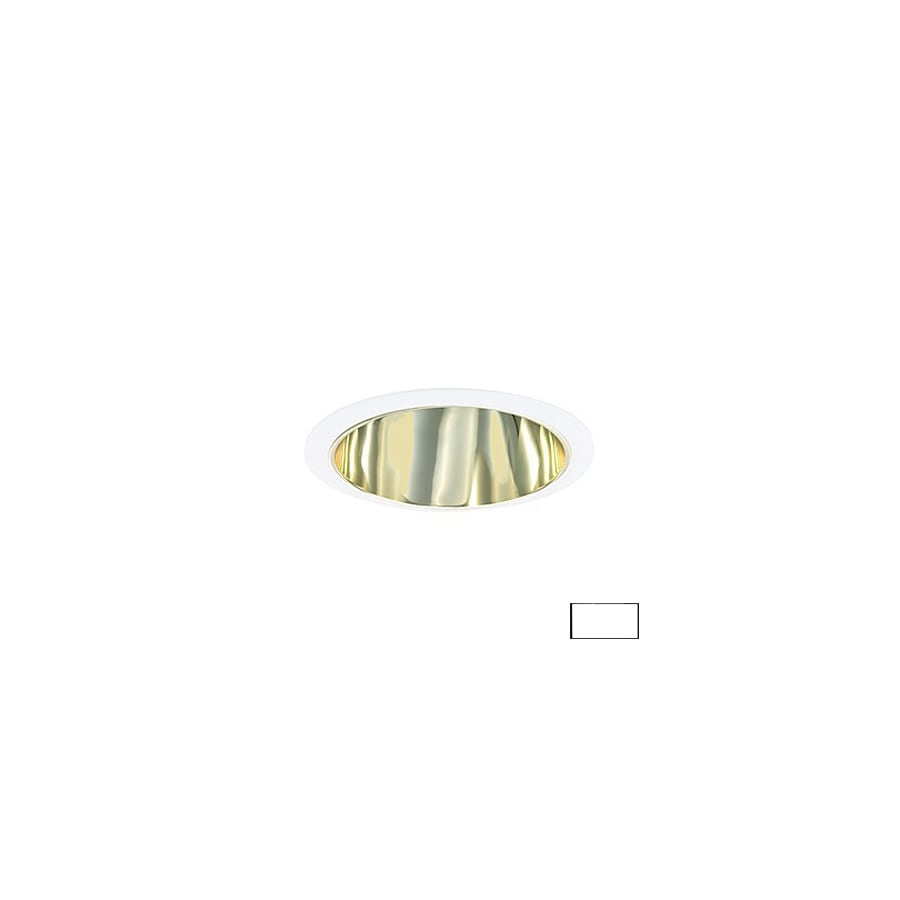 JESCO Polished Brass Open Recessed Light Trim (Fits Housing Diameter: 6-in)
