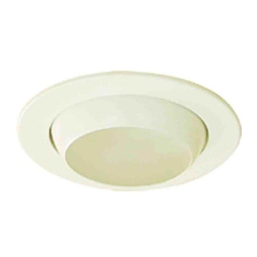 Volume International White Eyeball Recessed Light Trim (Fits Housing Diameter: 4-in)