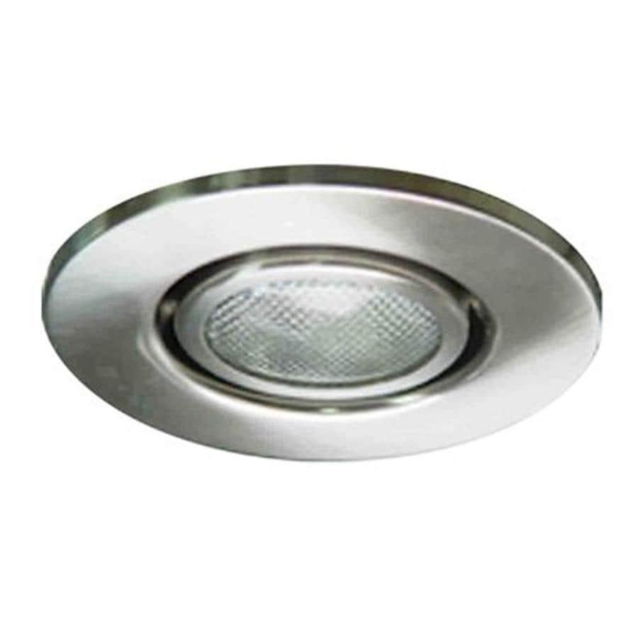 Volume International Brushed Nickel Gimbal Recessed Light Trim (Fits Housing Diameter: 4-in)