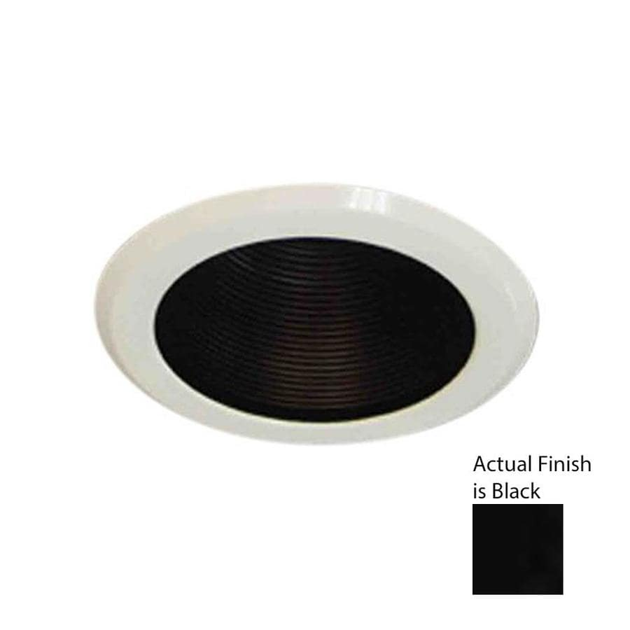 Volume International Black Baffle Recessed Light Trim (Fits Housing Diameter: 5-in)