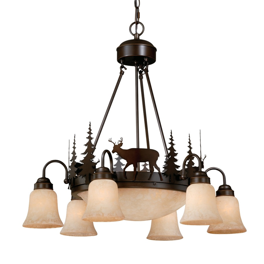 Shop Cascadia Lighting Bryce 28 5 In 9 Light Burnished Bronze Rustic