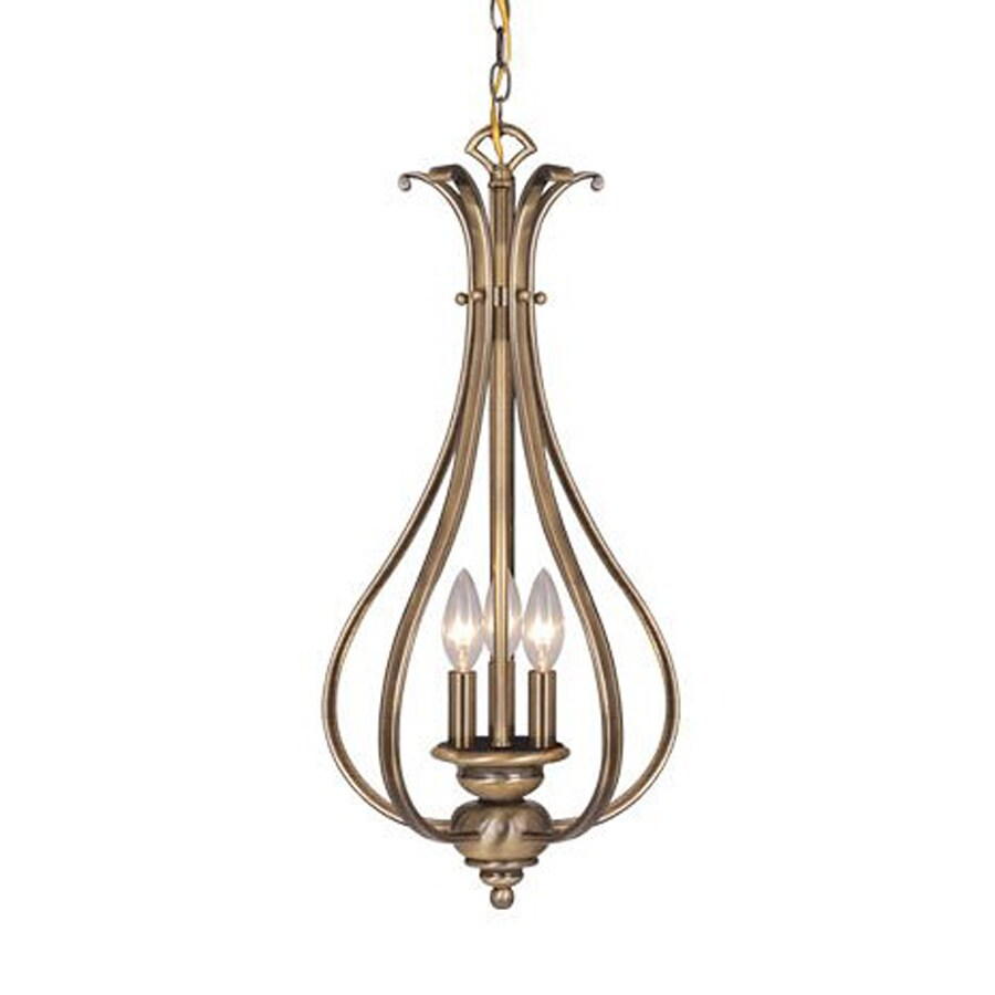 Cascadia Lighting Monrovia 11.25-in Antique Brass Vintage Single Cage Pendant