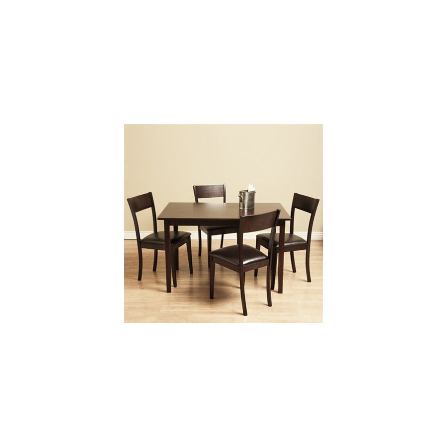 Warehouse Of Tiffany Ida Light Cappuccino Dining Set