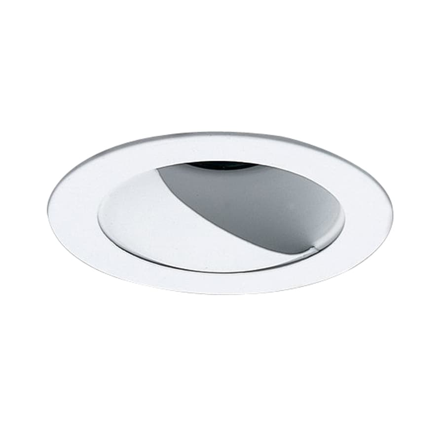 Wall Washing Recessed Lighting Distance : Shop Nicor Lighting White Wall Wash Recessed Light Trim (Fits Housing Diameter: 4-in) at Lowes.com