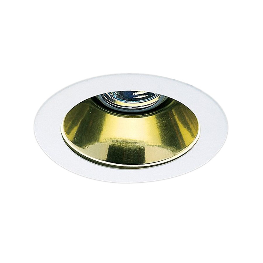 Recessed Lighting Housing For Shower : Nicor lighting gold open recessed light trim fits