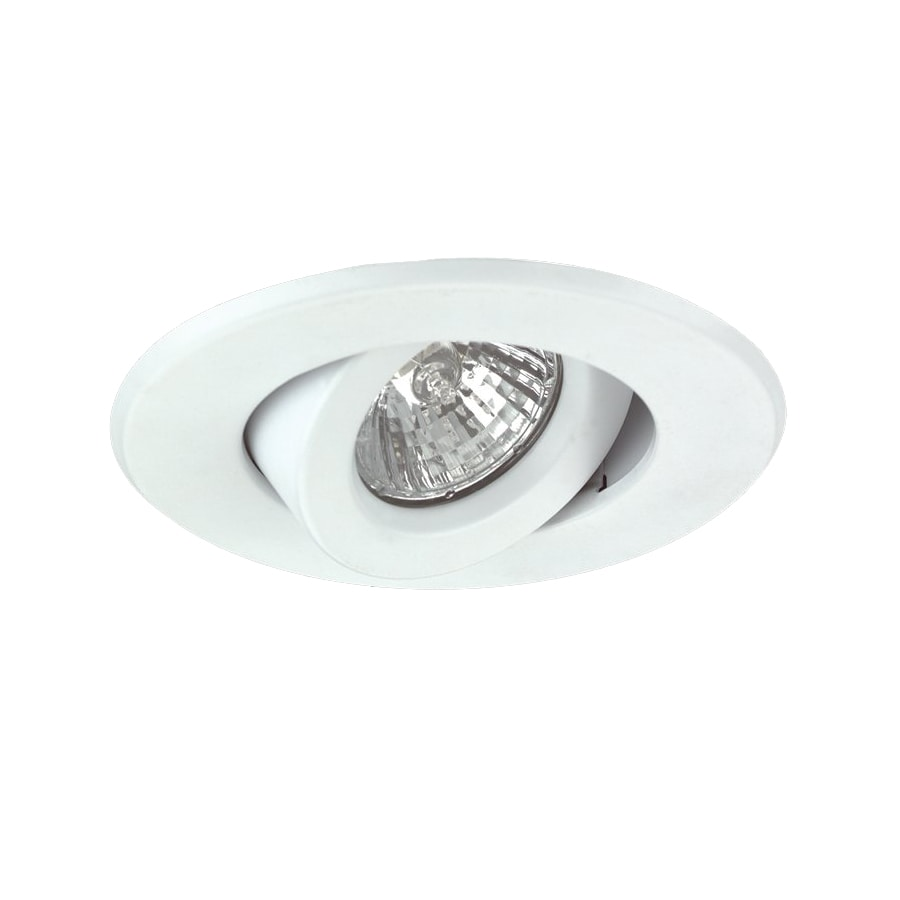 Nicor Lighting White Gimbal Recessed Light Trim (Fits Housing Diameter: 4-in)
