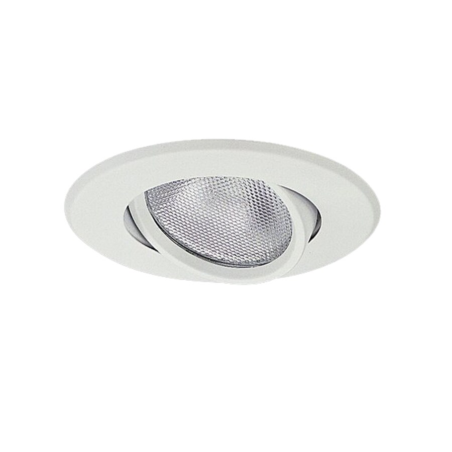 Nicor Lighting White Gimbal Recessed Light Trim (Fits Housing Diameter: 5-in)
